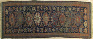 Sumac carpet, ca 1900, in a lesghi star design, 8'