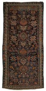 Sechour carpet, ca. 1900, with repeating geometric