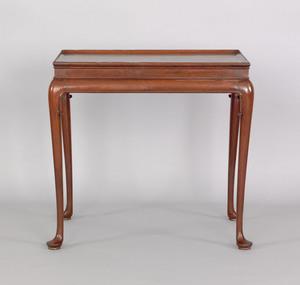 George II mahogany tea table, ca. 1745, the rectan