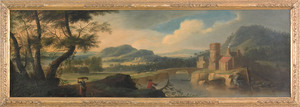 James Ross (British, ca. 1735), pair of oil on can
