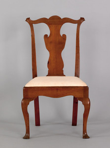 Queen Anne mahogany dining chair, ca. 1745, with s