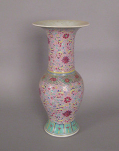Chinese export famille rose vase, late 19th c., 17