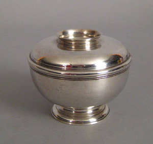 George I silver sugar bowl and cover, ca. 1724, by