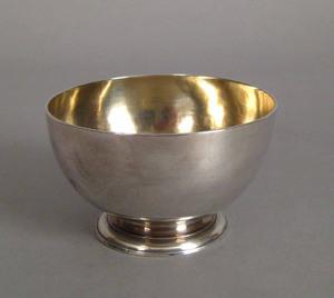 Georgian silver finger bowl, Exeter 1733-1734, bea