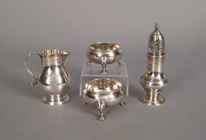 Four Georgian silver tablewares, to include a pair