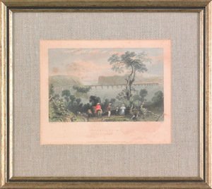 Two William Birch color engravings, published 1799