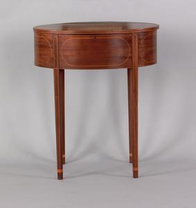 Maryland Hepplewhite mahogany oval work table, ca.