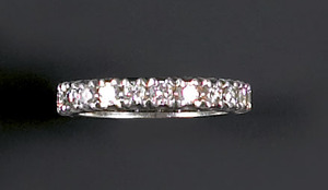 Diamond and platinum eternity band with approx. 1.