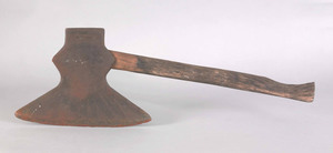 American iron axe dated 1821, initialed JS, the bl