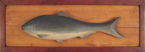 American carved and painted fish plaque, early 20t