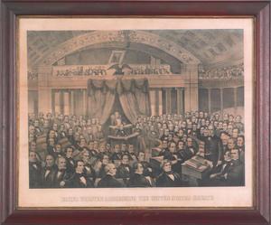 Daniel Webster Addressing the US Senate lithograph