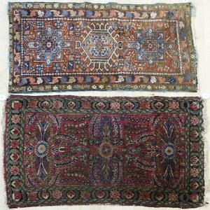 Three Hamadan mats, ca. 1930, 3'10