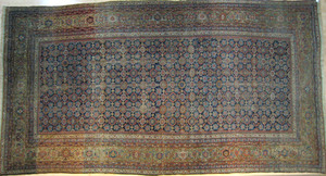 Malayer carpet, ca. 1940 with overall floral desig