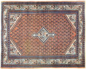 Two Hamadan mats, 4'9