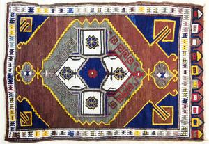 Shiraz carpet, mid 20th c., 5'8