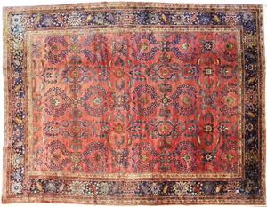 Sarouk carpet, ca. 1920, 12' x 9'.
