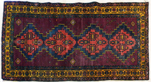 Caucasian long rug, 9' x 4'4