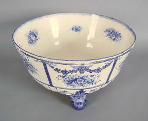 Large Royal Bonn punch bowl, 9 1/4