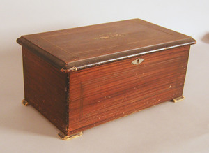 Swiss cylinder music box, late 19th c., 8 1/4