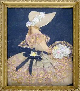 Victorian fabric silhouette, 6 3/4
