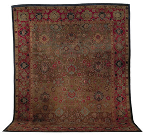 Agra carpet, ca. 1880, with overall floral pattern