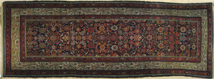 Hamadan runner, ca. 1920, in a herati pattern, 9'