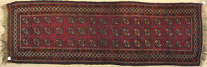 Three Turkoman rugs, 8' x 2'6