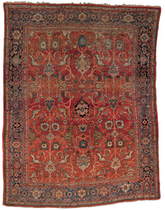 Mahal carpet, ca. 1920, with an oval floral patter