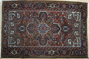 Heriz carpet, ca. 1950, with a central medallion o