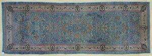Kirman throw rug, ca. 1930, 8' x 2'10