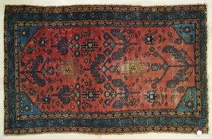 Malayer throw rug, early 20th c., 6'8