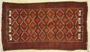 Hamadan throw rug, 6'9
