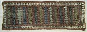 Hamadan long rug, ca. 1920, 9' x 3'3
