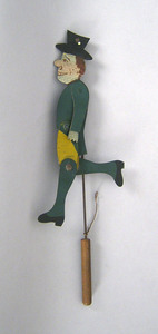Painted tin jigger toy, 16