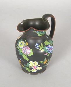 Wedgewood black basalt pitcher, 6 1/2