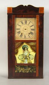 Empire mahogany mantle clock, 19th c., 35