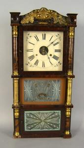 Birge & Fuller late Federal mantle clock, 19th c.,