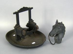 Philadelphia cast iron bootscrape stamped Morris,o