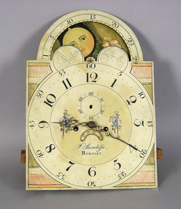 Tall case clock works signed J. Stancliffe Burnley