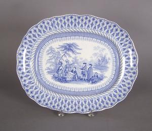 Pennsylvania Treaty Staffordshire platter, 13 3/4
