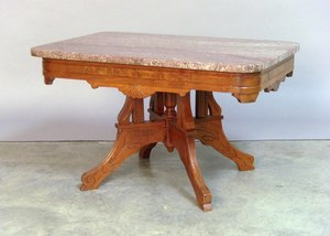 Victorian marble top stand, late 19th c., 18 1/2