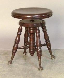 Victorian piano stool, 19 1/2