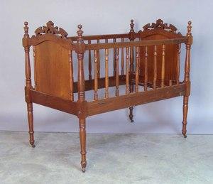 Victorian walnut crib, 40
