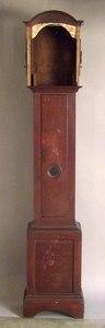 Queen Anne tall case clock, 18th c., 88 1/2