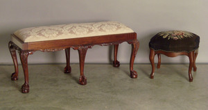 Chippendale style bench, 20