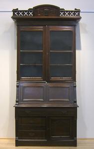 Victorian secretary bookcase, late 19th c., 101