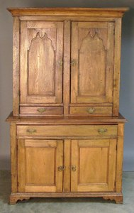 New England or Canadian butternut kitchen cupboard