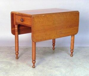 Sheraton cherry Pembroke table, 19th c., 30