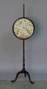 Victorian mahogany pole screen, 56