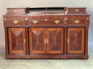 New England Empire mahogany sideboard, mid 19th c.